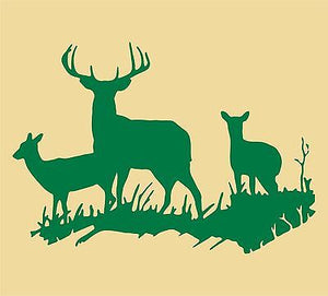"Deer Huntig Wall Art Home Decor Mural Vinyl Decal                                - 20"" x 14"""