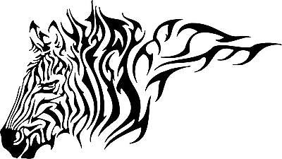 Zebra Tribal Horse Animal Car Truck Wall Laptop Vinyl Decal Sticker - 12""