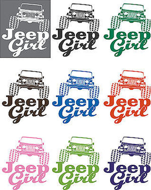 Funny 4 x 4 Jeep Girl Rock Crawling Car Truck Window Laptop Vinyl Decal Sticker - 5""