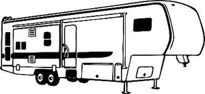 Camping 5th Wheel RV Camper Car Truck Window Wall Laptop Vinyl Decal Sticker - 5""