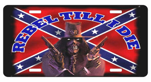 Confederate Rebel Battle Dixie Flag Novelty License Plate Car Truck Tag