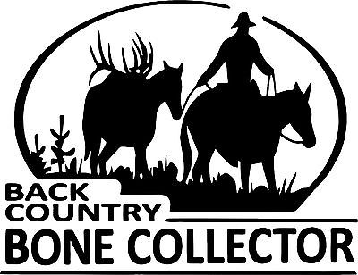 Country Bone Collector Horse Deer Hunt Car Truck Window Wall Vinyl Decal Sticker - 8""