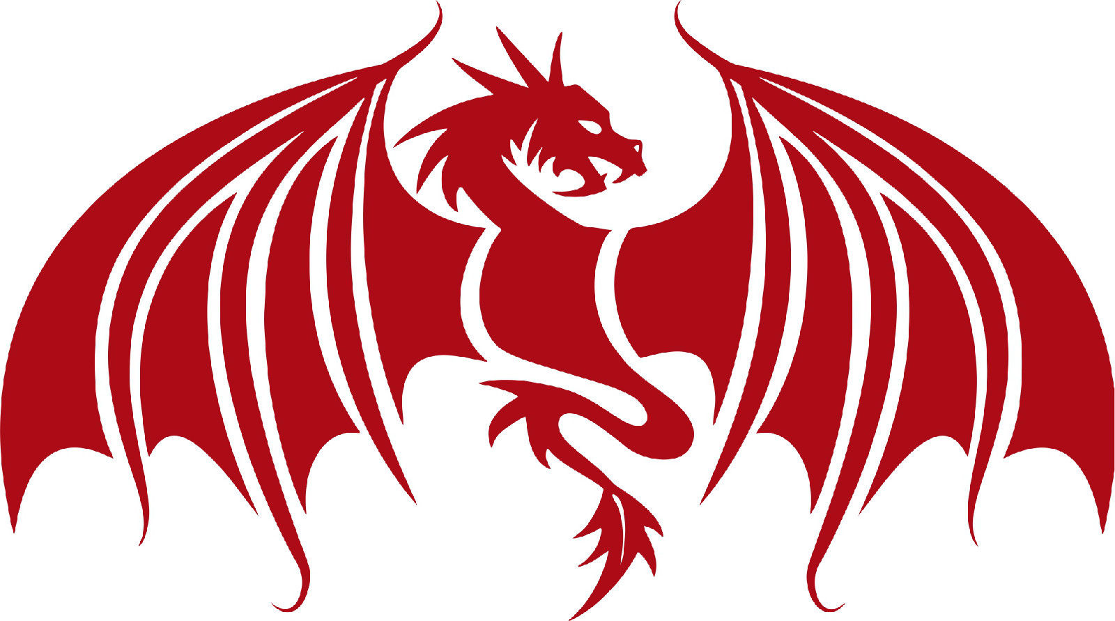 Dragon Wings Mythical Creature Car Truck Window Laptop Vinyl Decal Sticker - 6""