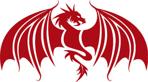 Dragon Wings Mythical Creature Car Truck Window Laptop Vinyl Decal Sticker - 8""