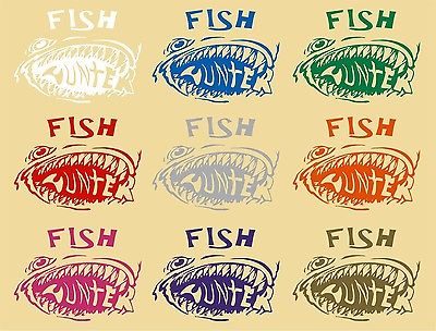 Fish Hunter Fishing Monster Car Truck Window Laptop Vinyl Decal Sticker - 6""