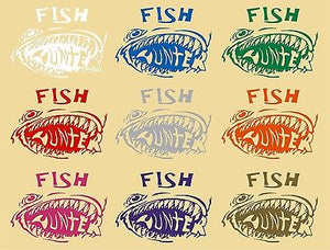 Fish Hunter Fishing Monster Car Truck Window Laptop Vinyl Decal Sticker - 10""