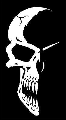 Half Skull Face Mask Car Truck Window Laptop Vinyl Tattoo Decal Sticker - 6""