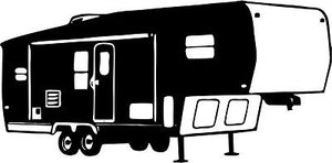 Camping 5th Wheel Camper Car Truck Window Wall Laptop Vinyl Decal Sticker - 8""