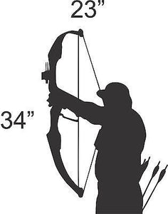 Archery Bow Hunting Hunter Wall Art Home Decor Mural Decal Vinyl