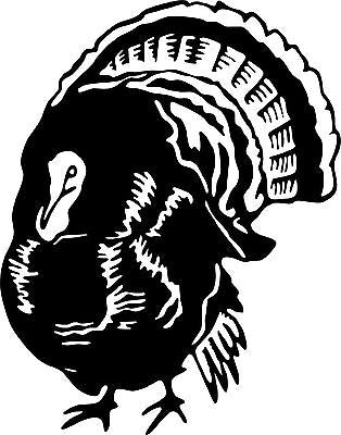 Wild Turkey Hunting Hunter Bird Car Truck Window Wall Laptop Vinyl Decal Sticker - 12""