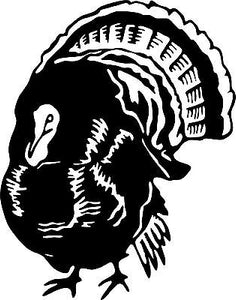Wild Turkey Hunting Hunter Bird Car Truck Window Wall Laptop Vinyl Decal Sticker - 9""
