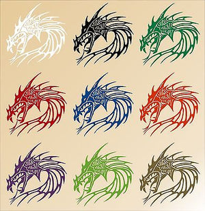 Dragon Head Mythical Creature Beast Car Truck Window Laptop Vinyl Decal Sticker - 10""