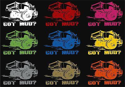 4 x 4 Got Mud Off-Road Truck Rock Climbing Car Window Wall Vinyl Decal Sticker - 12""