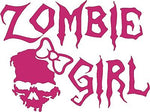 Zombie Girl Skull Walking Dead Car Truck Window Laptop Vinyl Decal Sticker - 9""