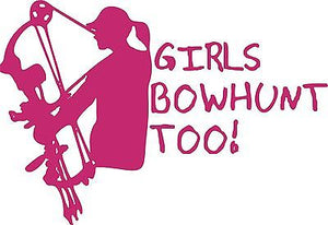 Girl Bowhunt Hunting Deer Car Truck Window  Laptop Vinyl Decal Sticker - 11""