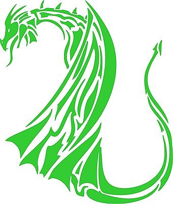 Dragon Mythical Creature Tribal Car Truck Window Laptop Vinyl Decal Sticker - 7""