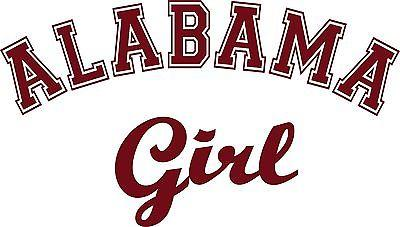 Alabama Girl Sports Football Car Truck Window Wall Laptop Vinyl Decal Sticker - 8""