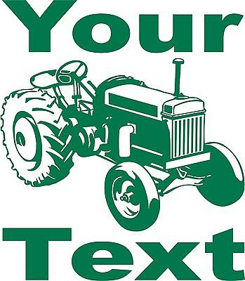 Custom name farm tractor vehicle car truck window laptop vinyl decal sticker