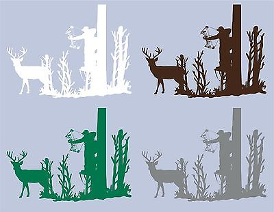 Deer Whitetail Buck Bow Hunting Hunter Wall Art Home Decor Mural Vinyl Decal