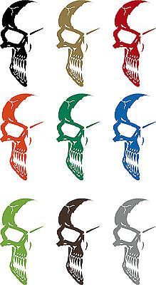 Half Skull Face Mask Car Truck Window Laptop Vinyl Tattoo Decal Sticker - 8""