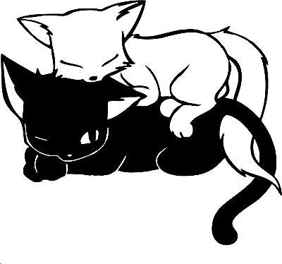 Cats Animals Kittens Car Truck Window Wall Laptop Vinyl Decal Sticker - 9""