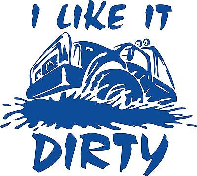 Dirty Muddy Off Road 4x4 Window Laptop Car Truck Jeep Vinyl Decal Sticker - 12""