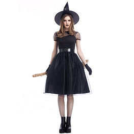 Black Witch Costume Halloween Party Costume