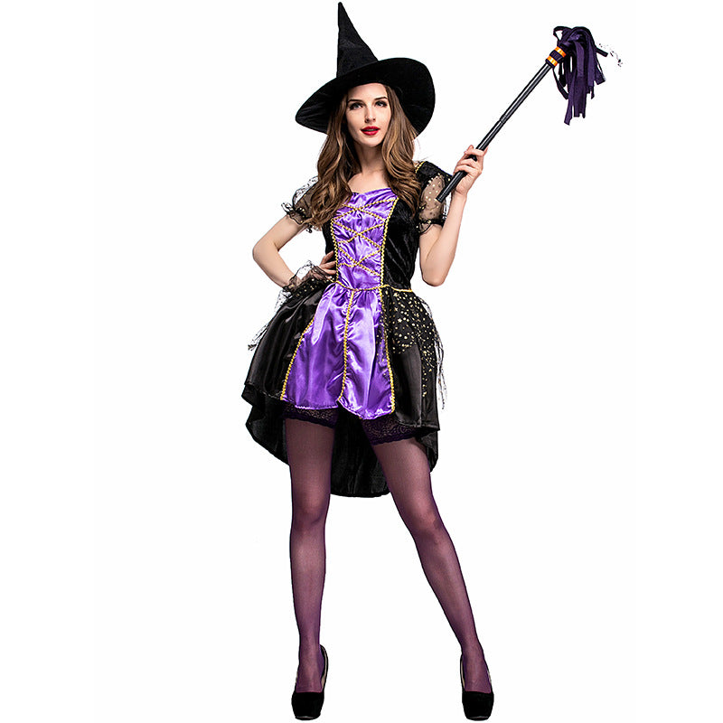 Purple Witch Costume With Hat Halloween Costume