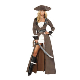 Deluxe Four Pieces Pirate Captain Costume Jack Costume