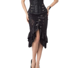 Women's Vintage Steampunk Goth Lace Skirt