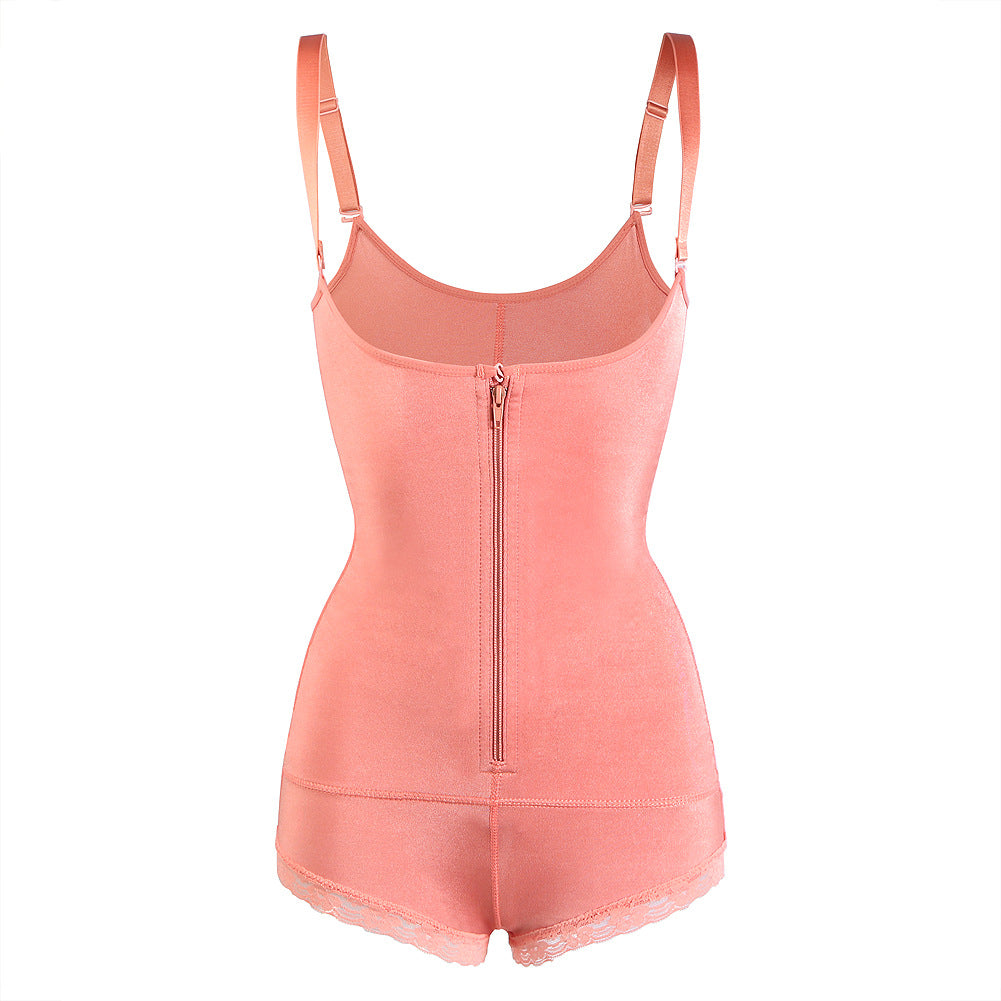 Slimming Braless Body Shaper Zipper Closure