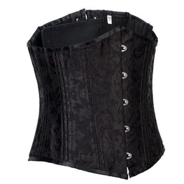 24 Steel Boned Brocade Underbust Waist Training Corset