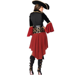 Women Pirate Captain Costume 3 Pieces
