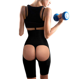 Open Hips High-Waist Bodyshaper Pants Butt Lifter