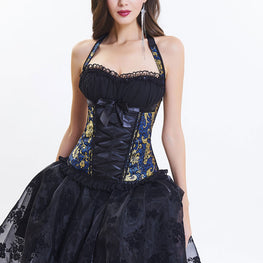 Elegant Corset Costume With High Low Skirt 8151