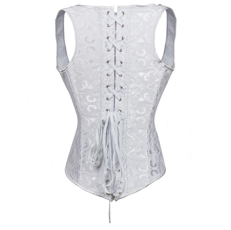 Embroidered Steampunk Hourglass Underbust Vest Corset