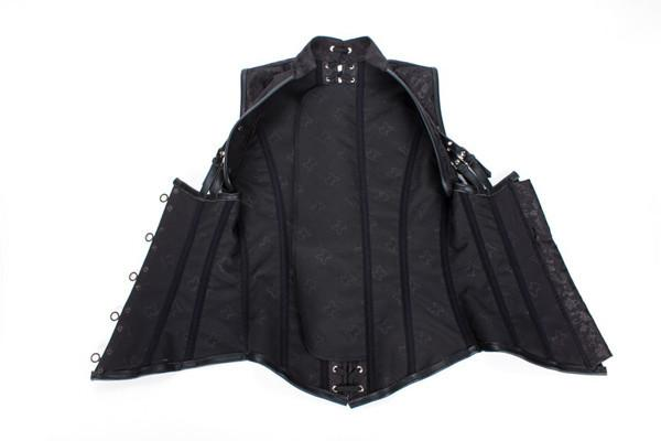 Steel Boned Gothic Steampunk Corset Jacket Black Corset