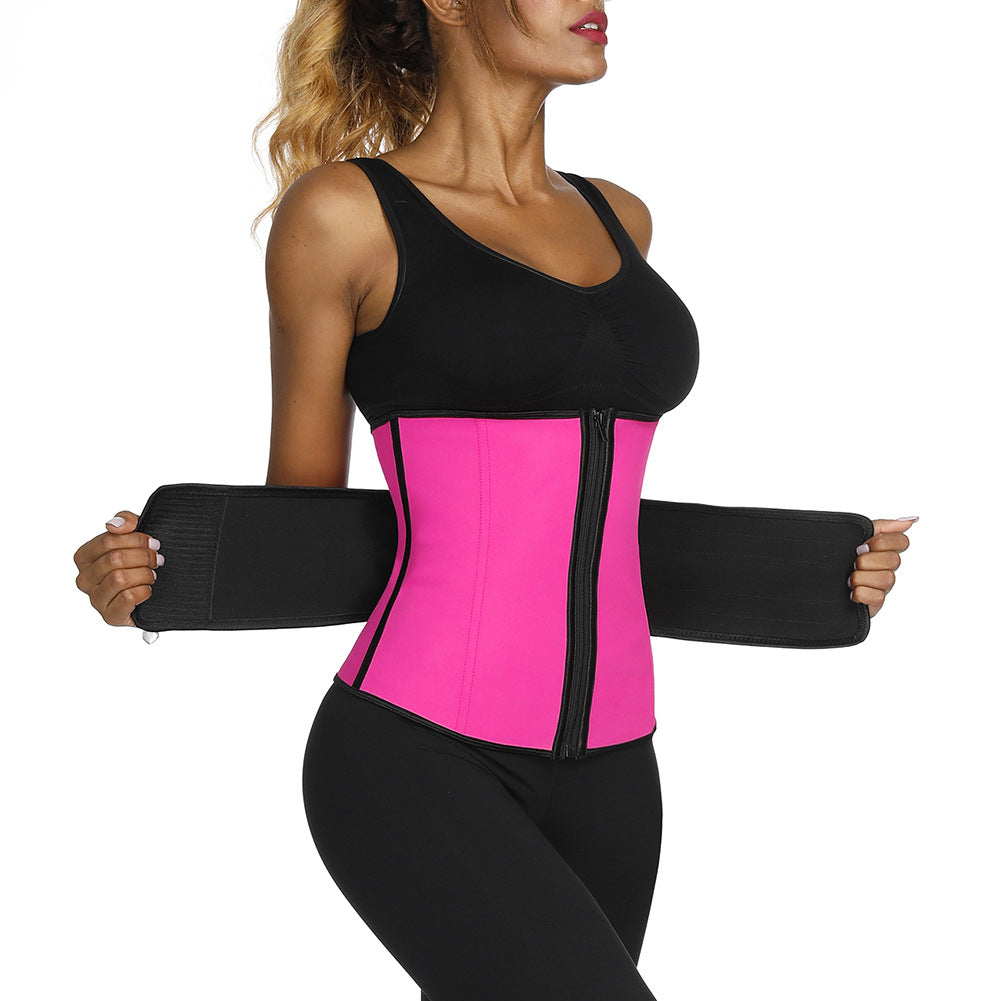 Latex Waist Trainer Sauna Belt Hourglass Shaper Corset