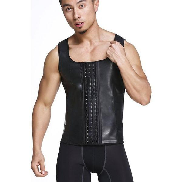 Latex Waist Trainer For Men Vest Body Shaper Corsets Fajas Colombians