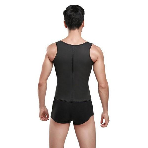 Latex Waist Trainer For Men Gym Shapewear Vest Corsets Fajas Colombians