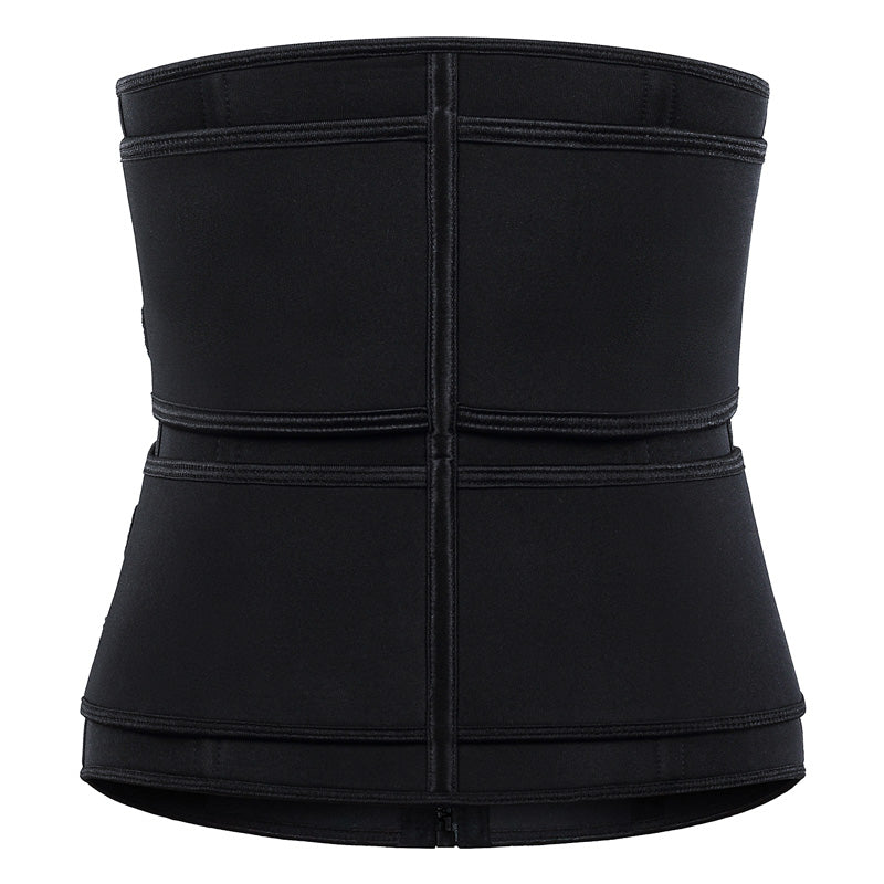 Neoprene Zipper Velcro High Compression Waist Trainer