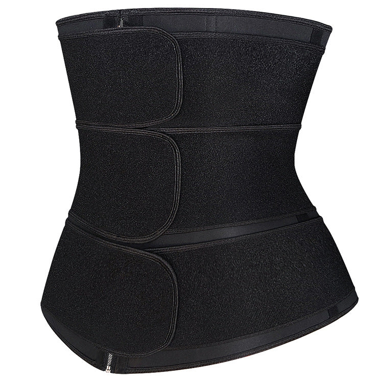 Neoprene High Compression 3 Belt Waist Trainer with Zipper