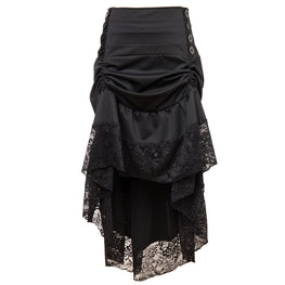 Classical Steampunk Gothic Lace Skirt For Corset