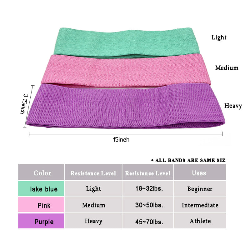 Resistance Bands for Legs Non-Slip Bands 3 Levels Glute Bands