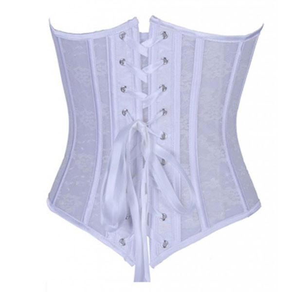 Sexy Seethrough Lace Bridal Wedding Bodice Overbust Corset