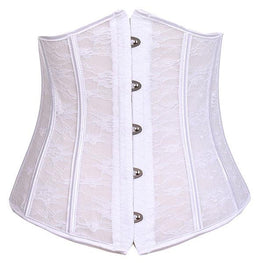 Sexy Seethrough Lace Mesh Bridal Wedding Underbust Corset