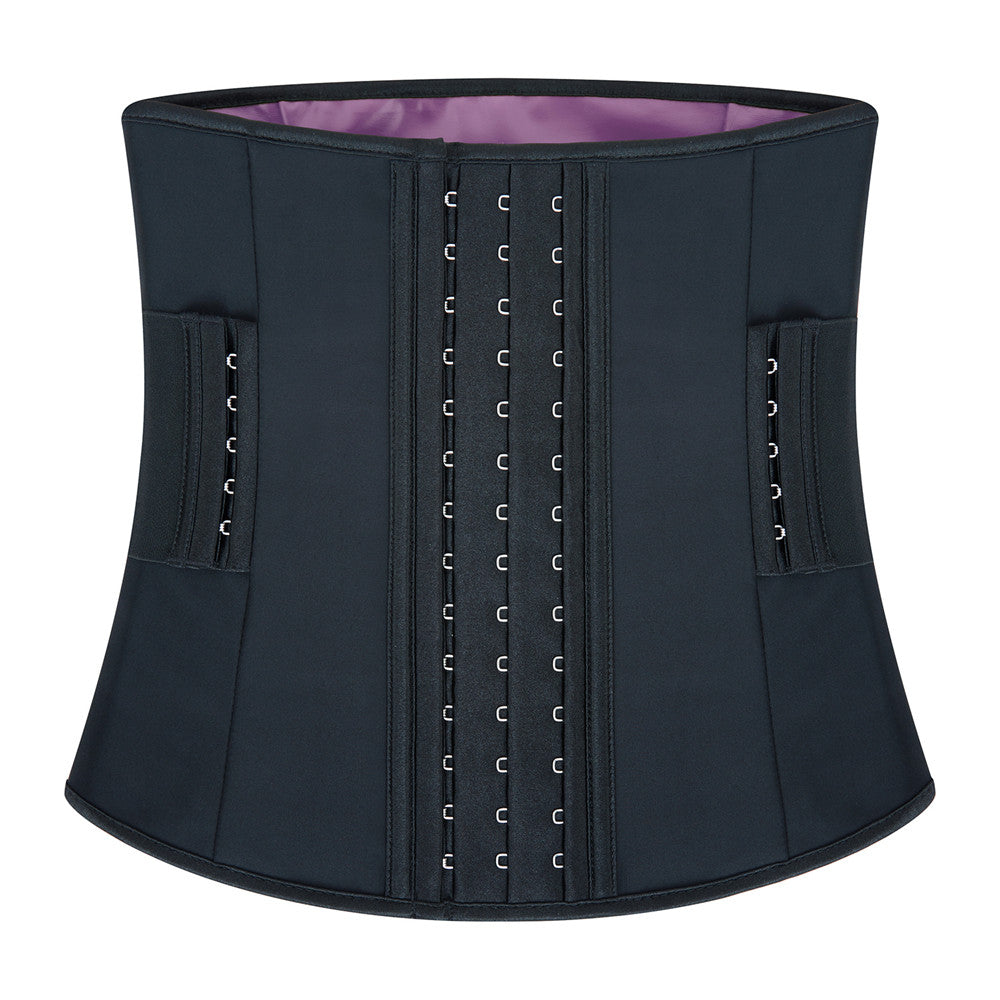 Women Latex Waist Trainer Promotes Healthy Sweat with Removable Belt