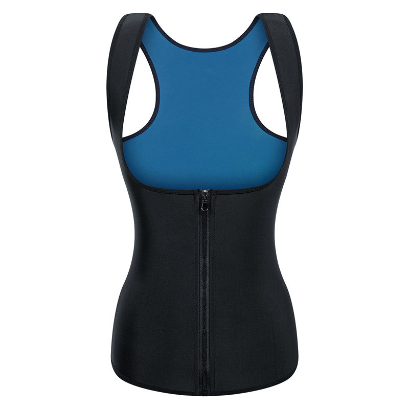Women Sauna Sweat Waist Trainer Vest with Zipper