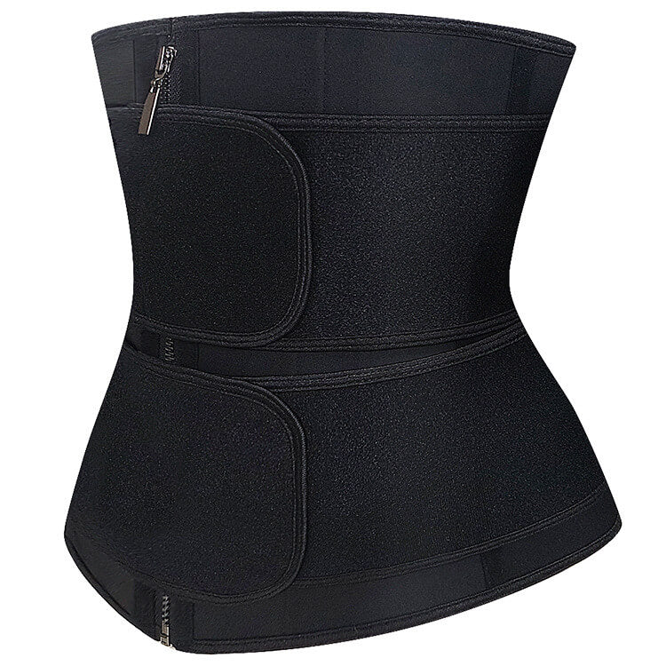 Women Waist Trainer Zipper Corset Belt Body Shaper Cincher Neoprene