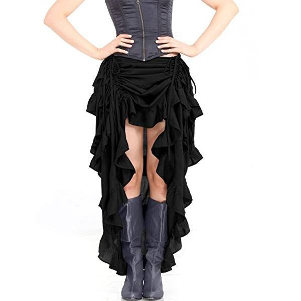 Women Steampunk Gothic Dance Costume Skirt
